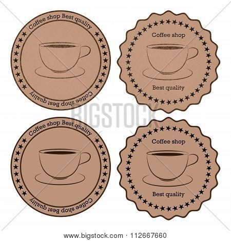Vector illustration of a banner coffee