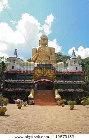 Entrace To Cave Temple Complex At Dambulla, Sri Lanka