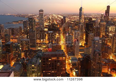 View to Downtown Chicago