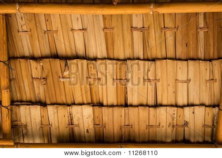 A thatched roof pattern