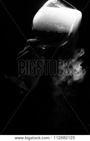 Glass With Organic Liquid