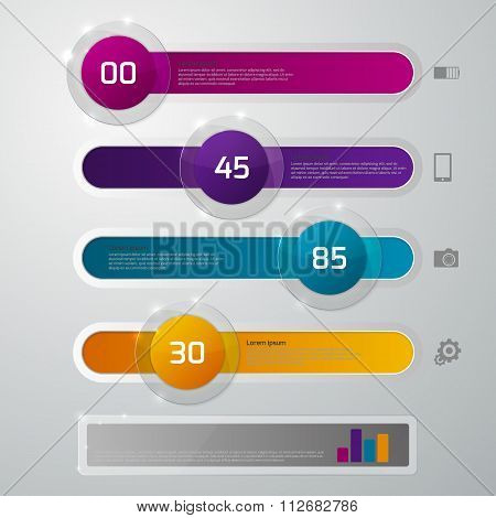 Vector illustration infographics glass slider