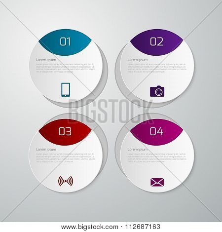 Vector illustration infographics paper circles