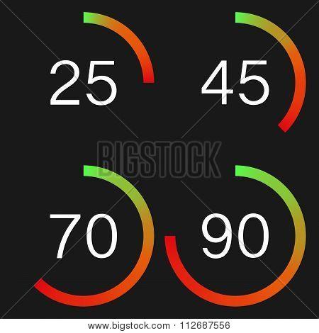 Vector illustration of a digital speedometer
