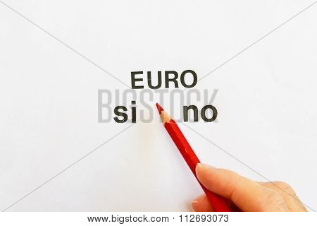 Vote To Express Approval Or Denial Of Use Of The Euro