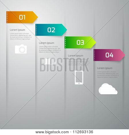 Vector illustration infographics 4 options