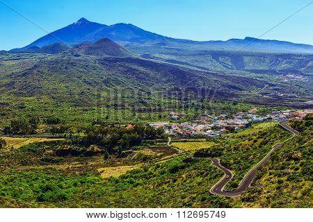 Valley Landscape In Tenerife Island