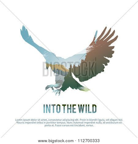 Eagle. Vector illustration.