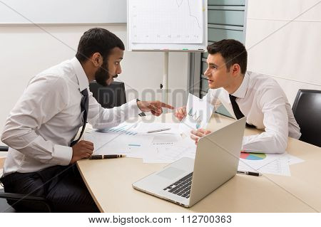 Business men at the office.