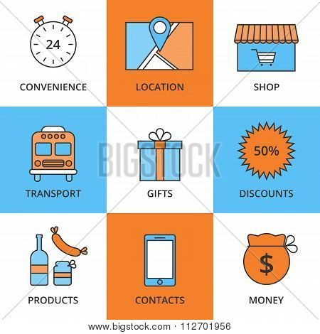 Stock Vector Linear icon Store