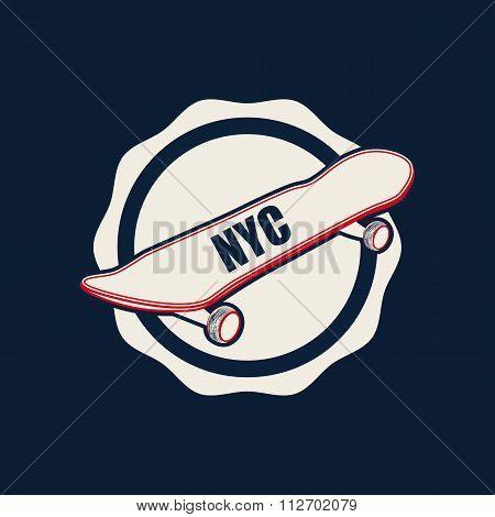 Skate typography, t-shirt graphics