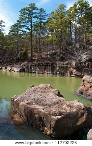 Fourche Maline Tributary in Robbers Cave State Park