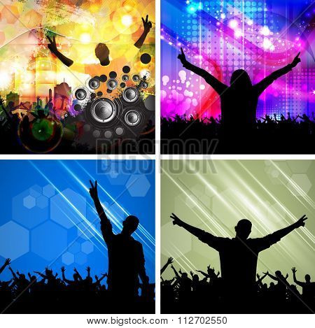 Music backgrounds for poster or banner