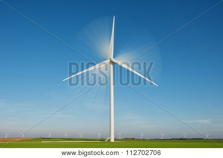 wind turbine with rotation effect