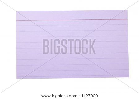 Index Card Lined Purple