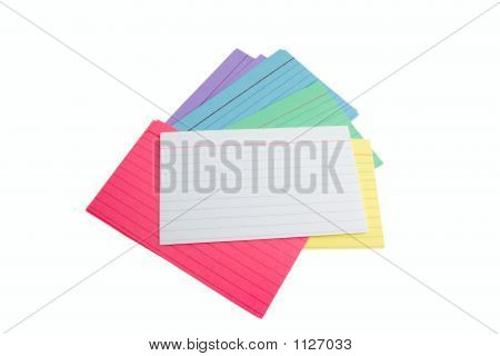 Pile Of Index Cards