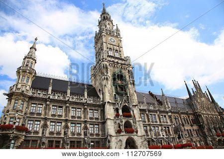 Town Hall (rathaus) In Marienplatz, Munich, Germany