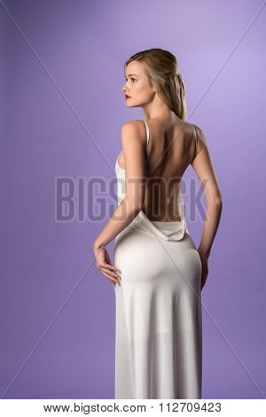 Long White Gown