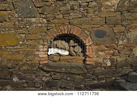 Antique traditional stone oven