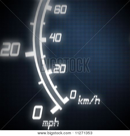 Part Of Futuristic Speedometer
