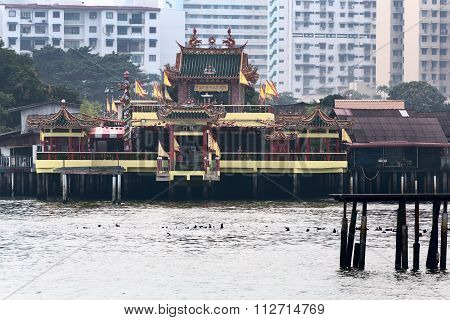 Hean Boo Thean Kuanyin Chinese Buddhist Temple In Clan Jetties, Georgetown, Malaysia, Penang. Transl