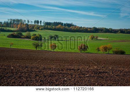 The autumn landscape.
