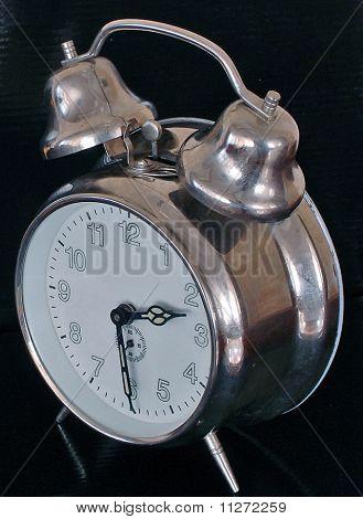 old mechanical windup clock