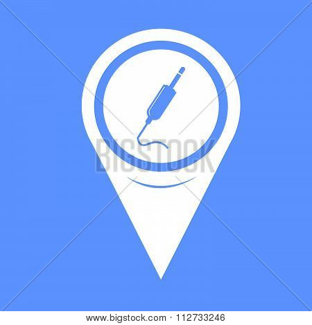Map Pin Pointer Jack Cable Icon