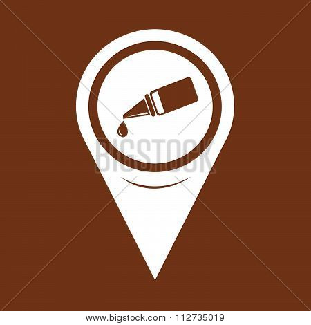 Map Pin Pointer Ear Or Eye Drop Icon