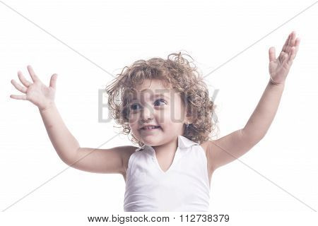 Female Children With Arms Open