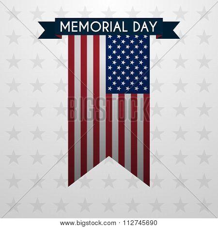 Vector illustration of memorial day