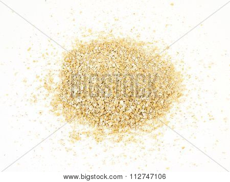 Pile Of Oat Bran Isolated On White