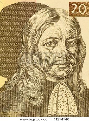 SLOVENIA - CIRCA 1992: Janez Vajkard Valvasor