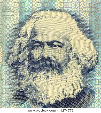EAST GERMANY - CIRCA 1975: Karl Marx