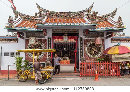 Georgetown, Penang/malaysia - Circa October 2015: Cheng Hoon Teng Chinese Buddhist Temple In Georget