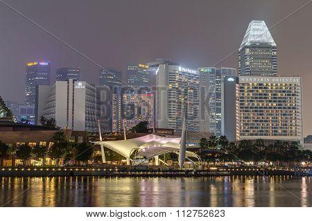 Singapore, Singapore - Circa September 2015: Esplanade – Theatres On The Bay,  Singapore