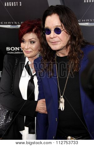 LOS ANGELES, CALIFORNIA - August 1, 2012. Sharon Osbourne and Ozzy Osbourne at the Los Angeles premiere of