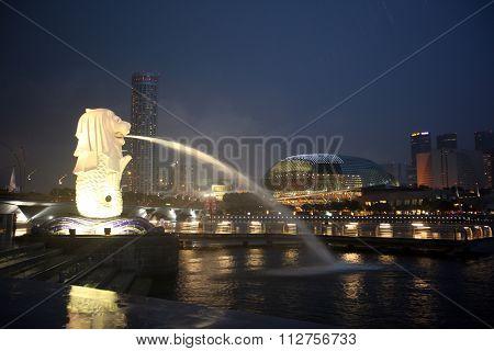 Asia Singapore City Cityscape Espanade Marina Bay