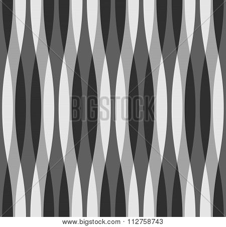 Black, White And Gray Wavy Background