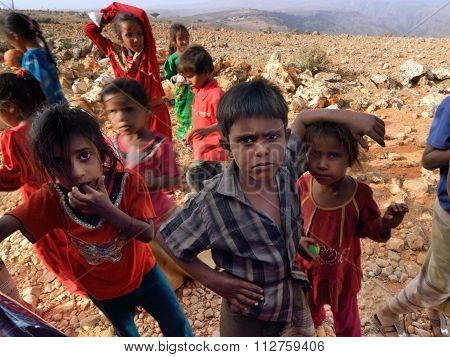 Socotrian Children. Yemen