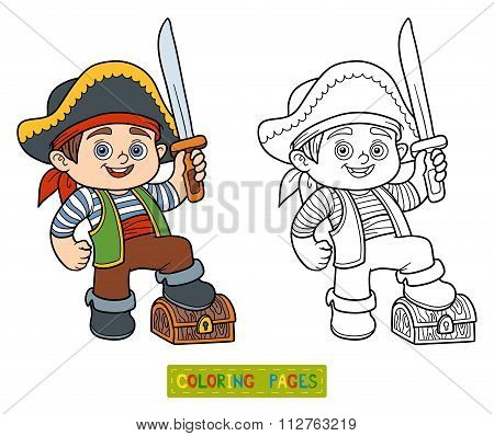 Coloring Book For Children (pirate Boy)