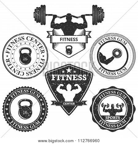 Vector illustration set of logos fitness