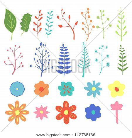 Stock Vector Natural design elements hand-drawn