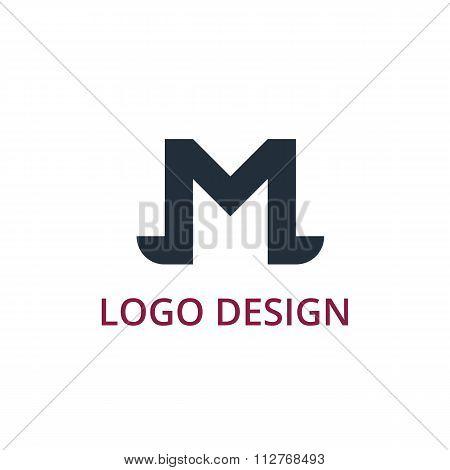 Vector illustration letter logo m