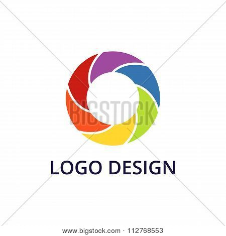 Vector illustration of circle logo