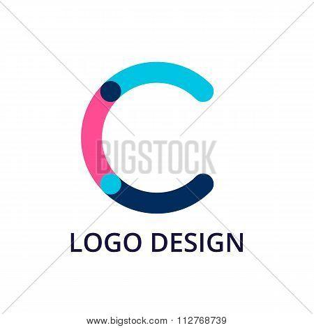 Vector illustration letter logo c