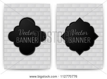 Vector illustration of a banner invitations