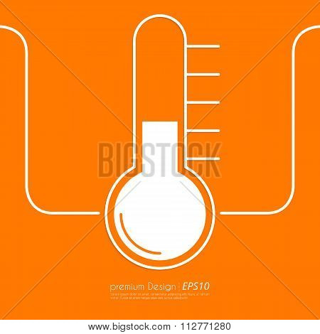 Stock Vector Linear icon thermometer