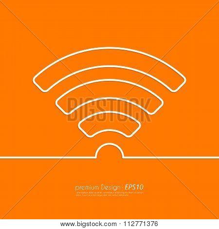 Stock Vector Linear icon wi-fi.
