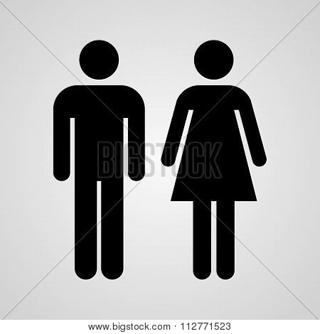 Stock Vector Linear icon male and female. Flat design. poster